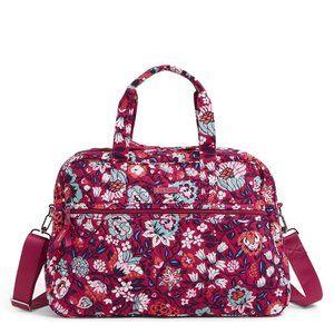 Vera Bradley Travel Bag Berry Blooms NWT